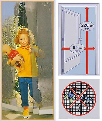 universal Fly screen for Doors to 95x220 Insect Protection Mosquito Curtain