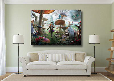 Alice In Wonderland Mad Hatter Wall Art BOX CANVAS Print - Various Size Options