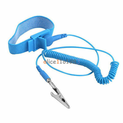 Brand Anti Static ESD Wrist Strap Discharge Band Ground Prevent Static Shock GN