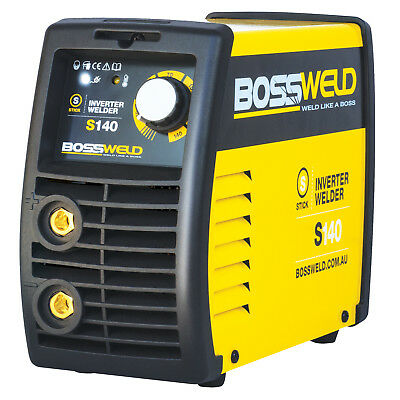Bossweld S140 STICK ARC INVERTER WELDER 140Amp 240V, Take Up To 3.2mm Electrode