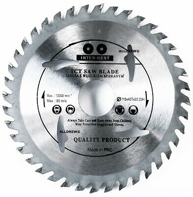 115mm x 40 TCT Teeth ANGLE GRINDER 4,5'' Saw Blade for Wood / Plastic
