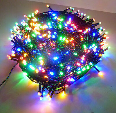 1000LED 75M Multi-Coloured Chasing Xmas Party Fairy Lights 8 Functions & Memory