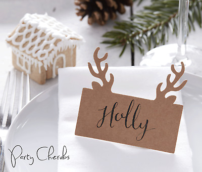 Stag Antler Shaped Place Cards x 10 - Lovely Christmas Table Setting