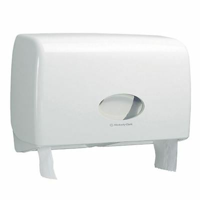 Aquarius Ripple Midi Jumbo Non-Stop Toilet Tissue Dispenser White 6991 [KC01203]