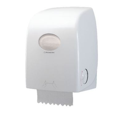 Aquarius Rolled Hand Towel Dispenser White 6959 [KC03756]
