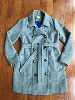 A Pea In The Pod Maternity Gray Wool Coat S Small  EUC