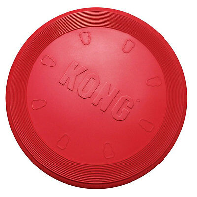 Kong Flyer Adult Dog Toy Frisbee Rubber Durable Strong Play Outdoor Disc Large