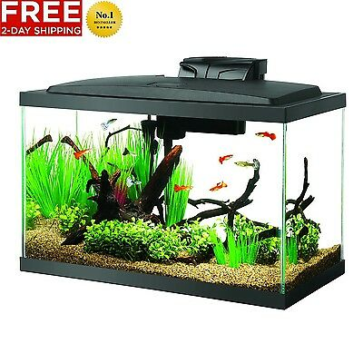Aqueon Fish Aquarium Starter Kit Led 10 Gallon Tank Free 2 Day Shipping