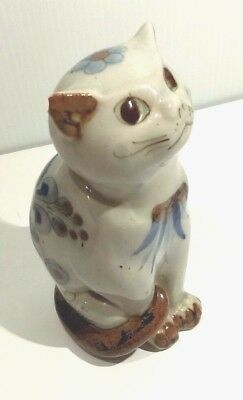 El Palomar Mexico Pottery Cat Figurine Ken Edwards Signd Original Ceramic Art 6""