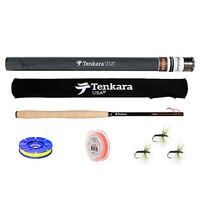 Tenkara USA Iwana 12ft. Carbon Fiber Fly Rod and Level Line Fishing Outfit