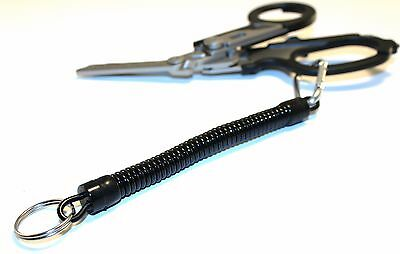 Coil Retention Lanyard / Tether– Black,EMT,Police,Medic