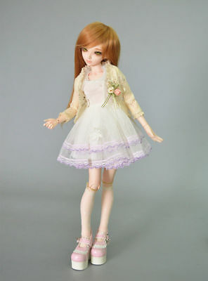 1/4 bjd doll ball jointed dolls cute girl face make up+full set clothes