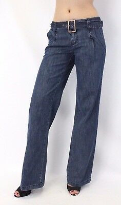 Woman's jeans SALE Italian Palazzo Wide Leg pants denim 534 size US 2 - 8 $39