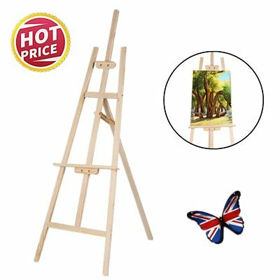 5ft/6ft PINE WOOD WOODEN STUDIO EASEL ARTIST ART CRAFT DISPLAY PAINTING UK NEW