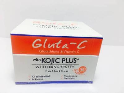 Gluta - C Vitamin C Face Neck Cream Skin Lightening Kojic Plus Glutathione SPF