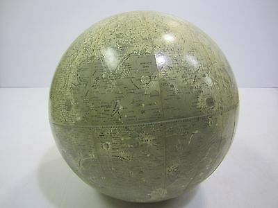 """Moon Globe Vtg. 1960's Rand McNally 12"""" Lunar Orb --No Stand--Out Of This World!"""