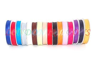 20mm HIGH QUALITY SATIN BIAS BINDING AVAILABLE IN 16 COLOURS,5 METRES /23 METRES