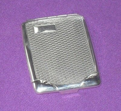 Art Deco 1928 Solid Sterling Silver Engine Turned Match Book Card Case Antique