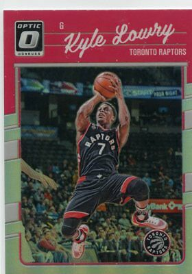 Kyle Lowry 2016-17 Panini Donruss Optic Holo Prizm Parallel #106 Toronto Raptors