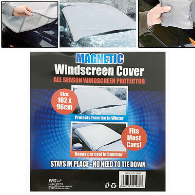Magnetic Car Windscreen Cover Protector Anti Frost Snow Dust Sun Shield 162x96cm