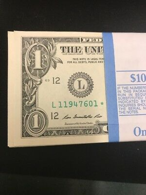 (1) STAR NOTE $1 Dollar Bill 2013, San Francisco consecutive, uncirculated *GEM*