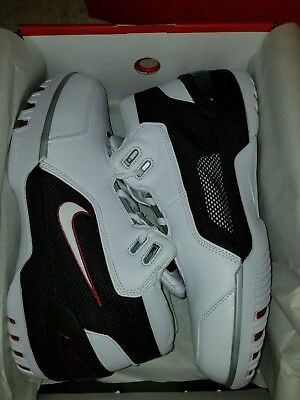 5c995427a83d 2017 Nike Air Zoom Generation QS White Black AJ4204-101 Size 10 Lebron  James AZG