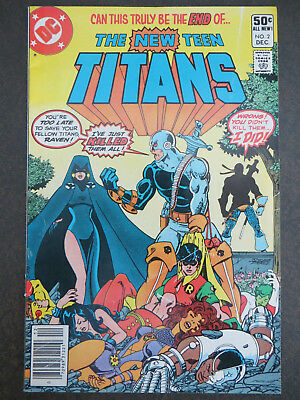 New Teen Titans #2 1st Deathstroke NEWSSTAND *KEY* 1980 Perez Wolfman Movie Show