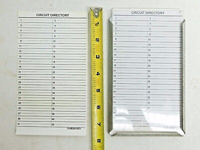 Electrical Load Center Panel Board Circuit Directory Label Sheet Mount Sign PO