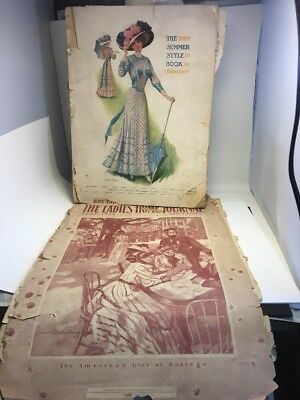 Ladies Home Joirnal 1900 & Summer Style Book Antique Ads