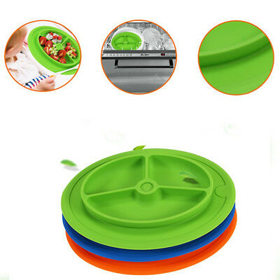 Kids Baby Silicone Placemat Plate Dish Toddler Safe Food Tray Table Mat Dishes