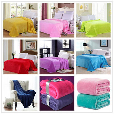 Flannel Throws Fleece Blanket Sofa Bed Lightweight Blankets Large Soft Warm New