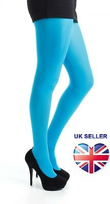 Womens Ladies 50 Denier Opaque Tights Turquoise Plus Size 8 To 18 Xl Pamela Mann