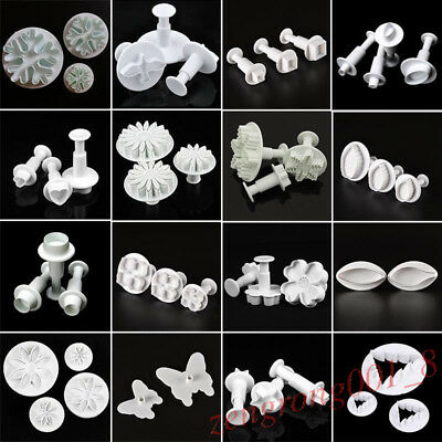 Fondant Cake Cookie Cutter Sugarcraft Icing Mould Plunger Decor Baking DIY Tool