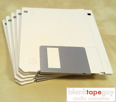 """Pack of 5x 1.44MB 3.5"""" DS-HD 2HD Floppy Discs Unformatted Unbranded bulk stock"""