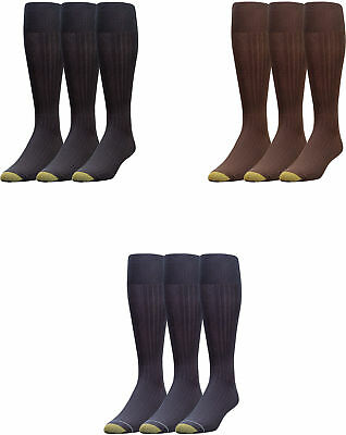 aa94e7cb02826 Gold Toe Men's Premium Over the Calf Canterbury Dress Socks, 3 Colors, 3  Pairs
