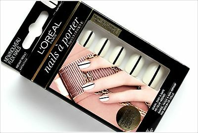 3x L'oreal Faux Ongles Nails à Porter By Color Riche - 003 Tuxedo Chic