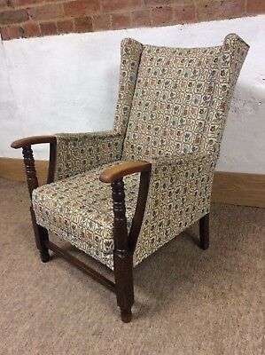 Vintage Retro 1950 Parker Knoll Style Wing Back Chair ( 2of 2 )