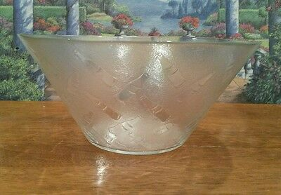 Vintage Frosted Glass Coca Cola Bowl