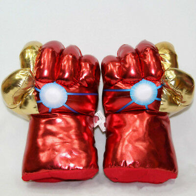 New Pair of Iron Man 3 Hands Boxing Fists Plush Red and Gold Gloves Toy10