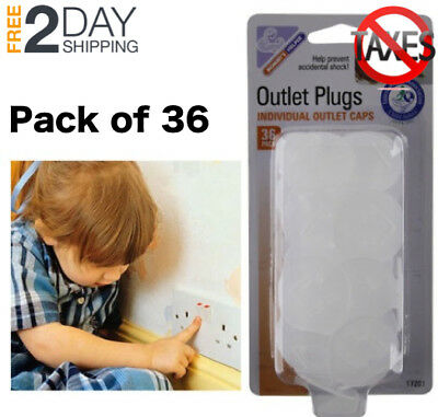 Child Baby Safety Electrical Plug Covers Outlet Cap Key and Cover 36 Count