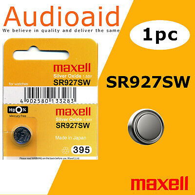 1Pc Sr927Sw (395) Genuine Maxell Silver Oxide Battery - Made In Japan (Not Fake)
