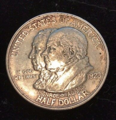 Choice (Xf-Au) - 1923 S - Monroe Doctrine Commemorative Silver Half Dollar 50C