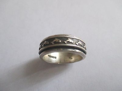 Dolphin Spin Ring...Sterling Silver..New...Taxco