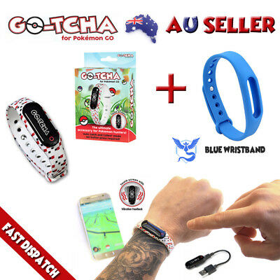 Gotcha For Pokemon Go Auto Catch & Spin + Blue Wristband Mystic New