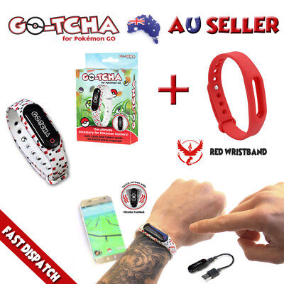 Gotcha For Pokemon Go Auto Catch & Spin + Red Wristband Valor New