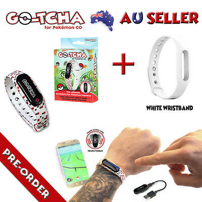 Gotcha For Pokemon Go Auto Catch & Spin + White Wristband New