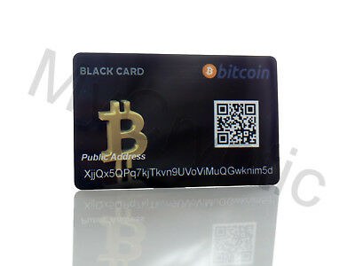 Bitcoin Black Wallet Card Cold Storage Offline Wallet Litecoin Monero Zcash Ethe