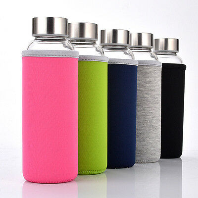 Water Bottle Cover Neoprene Insulated Sleeve Bag Case Pouch for 280-750mL Drink