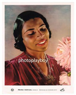 Marian Anderson Opera Singer Civil Rights Pioneer Deluxe Color Printed Portrait