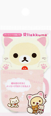 "San-X Rilakkuma ""Cat"" Sticky Notes in Folder (Pink)"